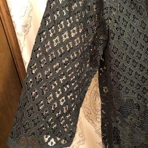 NWT Loft Hunter Green Lace Dress